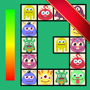 Connect - cute monsters and food.  Casual game.