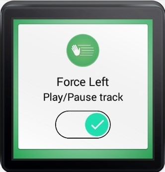 ApplciaciónKiwi on smartwatch with Android Wear