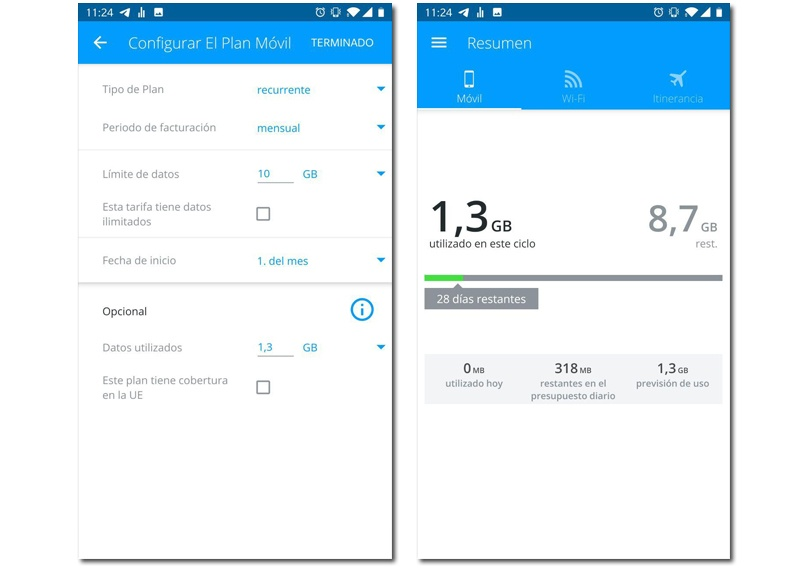 Data usage android my data manager