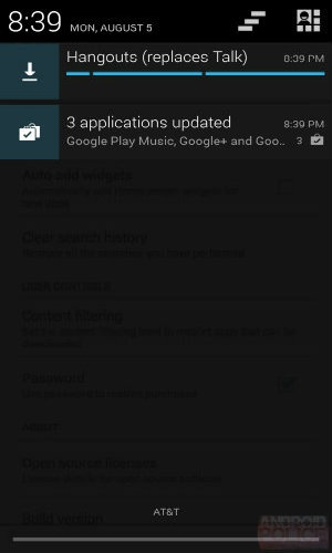New notifications in Google Play Store