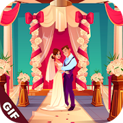 Wedding GIF: Happy Marriage Gif & Stickers Pack