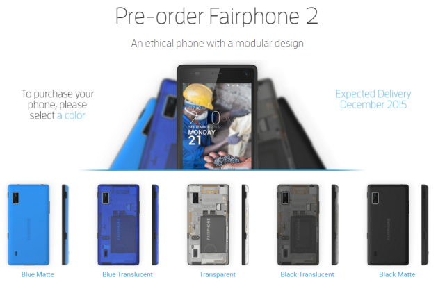 Fairphone 2 layout options
