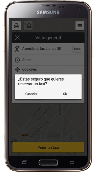 Order a taxi in MyTaxi
