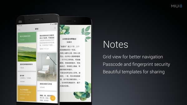 Notes application in MIUI 8