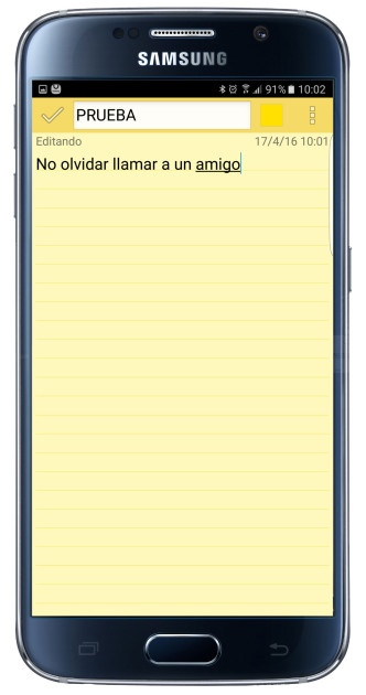 Yellow note in ColorNote