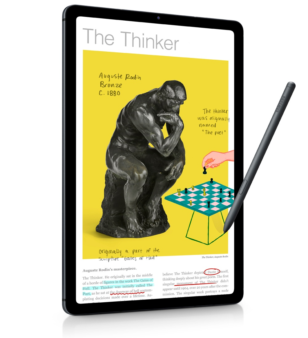 Use the screen of the Samsung Galaxy Tab S6 Lite tablet