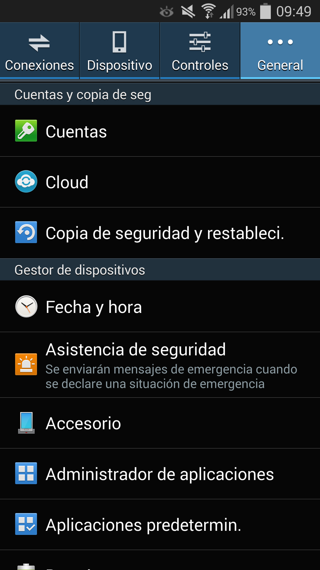 Factory reset in TouchWiz