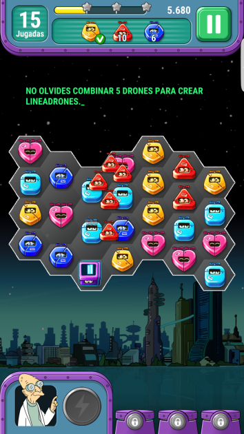 Playing Futurama: Game of Drones for Android