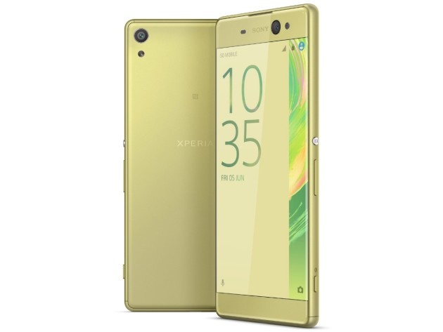 Image of the Sony Xperia XA Ultra in gold color