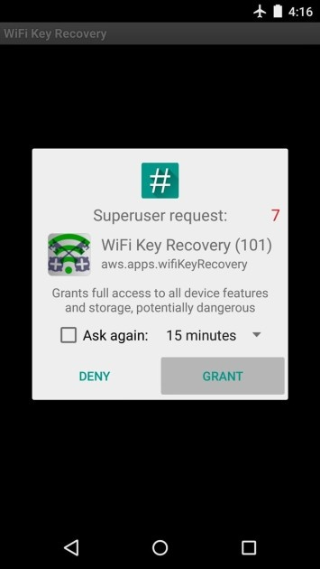 Superuser with WiFi Key Recovery