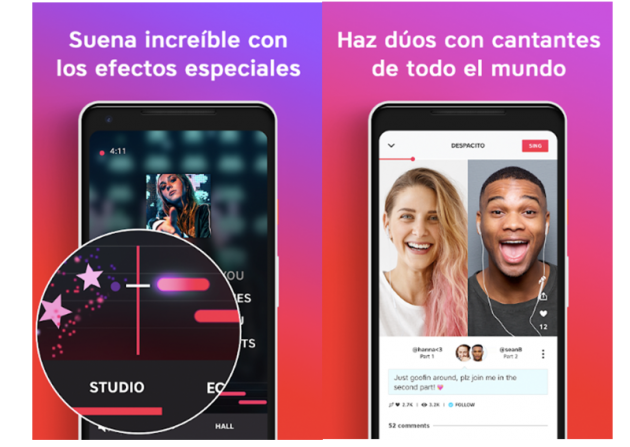 Official images of the La Voz application to sing from home
