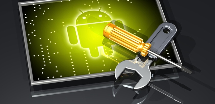 Android icon with tools