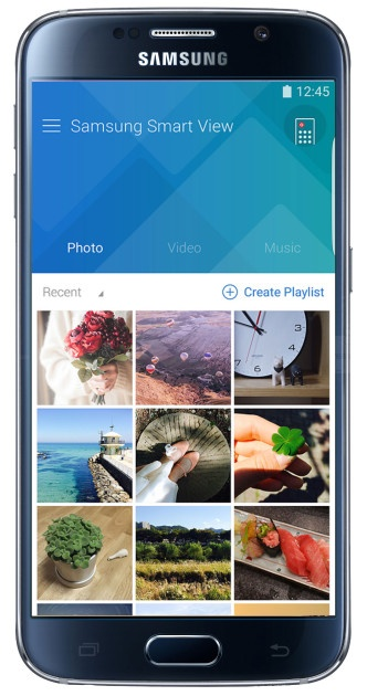 Contents in the Samsung SmartView application