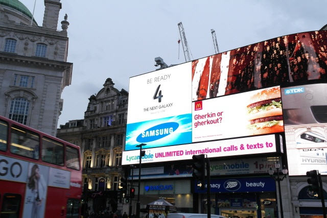 London advertising campaign for the Galaxy S4