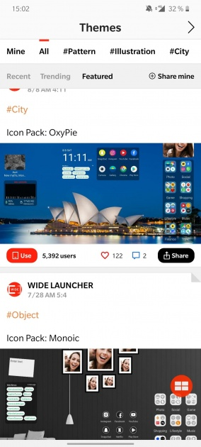 wide launcher themes