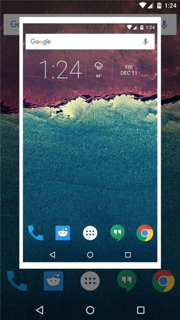 Screenshot in Android Marshmallow