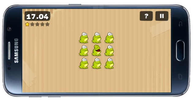 Elimination game in Tap the Frog