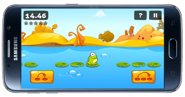 Jump game in Tap the Frog