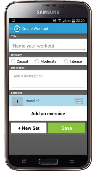 Creation in Workout Trainer