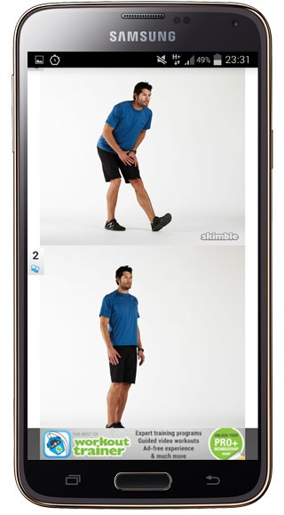 Explanatory images in Workout Trainer