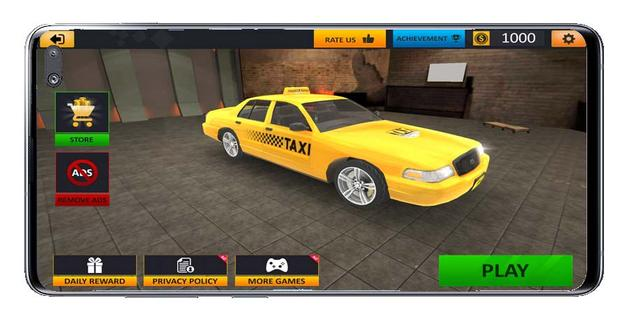 Garage car from Taxi Driver Sim game