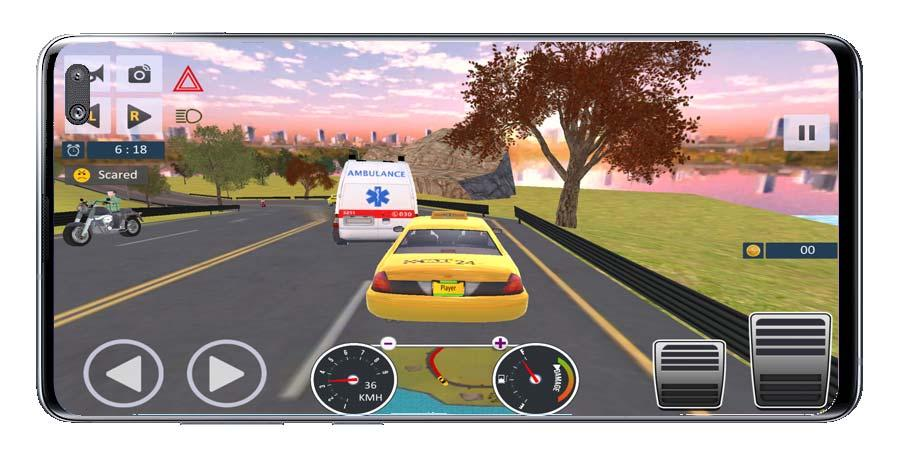 Driving in Taxi Driver Sim