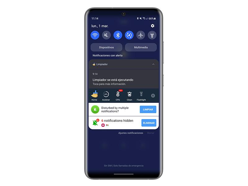 Hide Android notifications