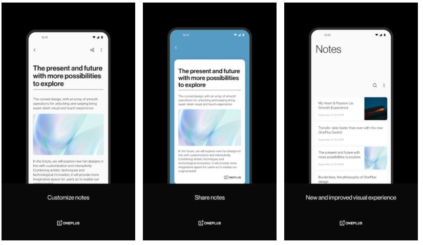 oneplus notes