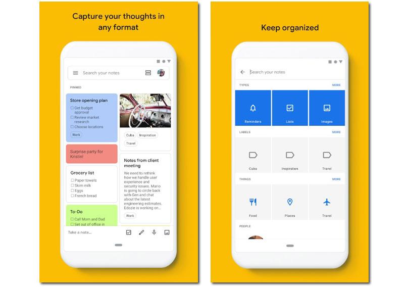 apps notes google keep